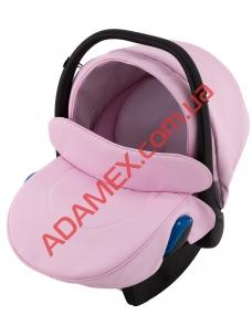 Автокресло Adamex Kite кожа 100% Q110 розовый