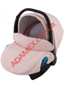 Автокресло Adamex Kite кожа 100% NR229 светло-розовая пудра