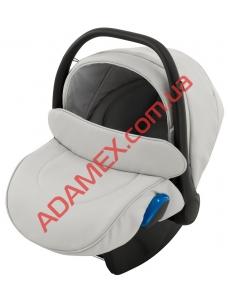 Автокресло Adamex Kite кожа 100% Q101 серый