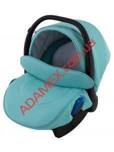 Автокресло Adamex Kite кожа 100% NR233 бирюзовый