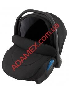 Автокресло Adamex Kite BR614 черный (люрекс)