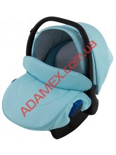 Автокресло Adamex Kite кожа 100% NR217 голубой