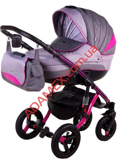 Коляска 2в1 Adamex Aspena Grand Prix Collection Pink Black