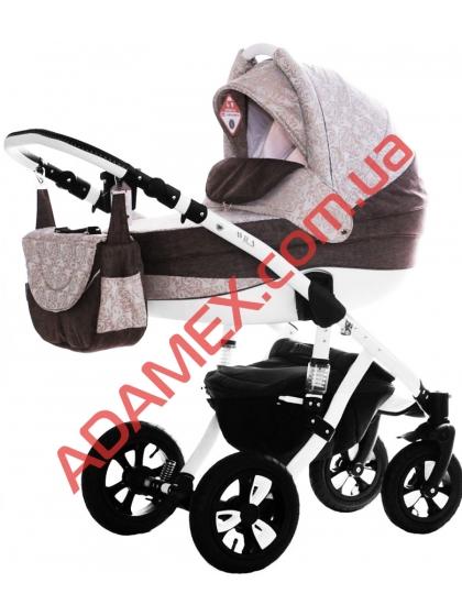 Коляска 2в1 Adamex Avila Len 239W