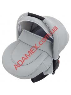 Автокресло Adamex Carlo кожа 100% серый