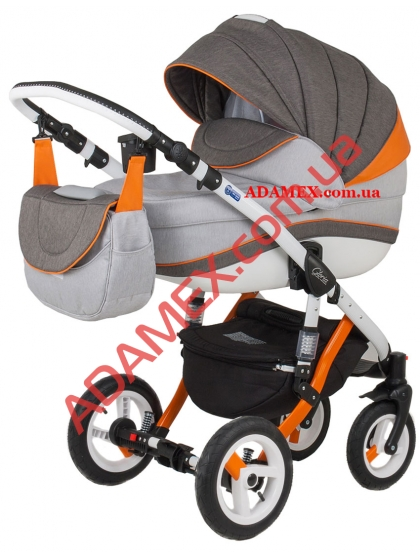 Коляска 2в1 Adamex Gloria Rainbow Collection Orange
