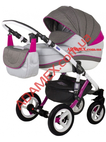 Коляска 2в1 Adamex Gloria Rainbow Collection Pink