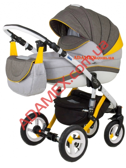 Коляска 2в1 Adamex Gloria Rainbow Collection Yellow