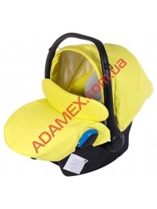 Автокресло Adamex Kite кожа 100% Q108 лимонная (черный пластик)