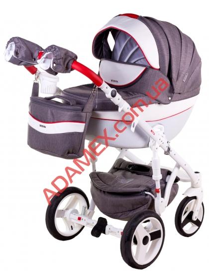 Коляска 2в1 Adamex Monte Carbon Deluxe D31