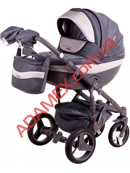 Коляска 2в1 Adamex Monte Carbon Deluxe D23