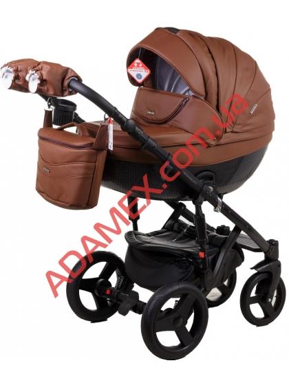Коляска 2в1 Adamex Monte Carbon Deluxe 12S-CZ