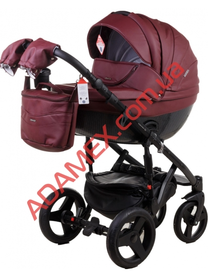 Коляска 2в1 Adamex Monte Carbon Deluxe 57S-CZ