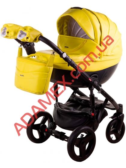 Коляска 2в1 Adamex Monte Carbon Deluxe 39S-CZ