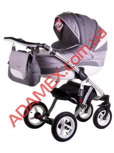 Коляска 2в1 Adamex Aspena Grand Prix Collection Grey White