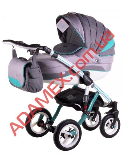 Коляска 2в1 Adamex Aspena Grand Prix Collection Mint White