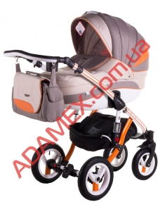 Коляска 2в1 Adamex Aspena Grand Prix Collection Orange White