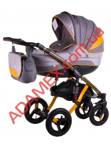 Коляска 2в1 Adamex Aspena Grand Prix Collection Yellow Black