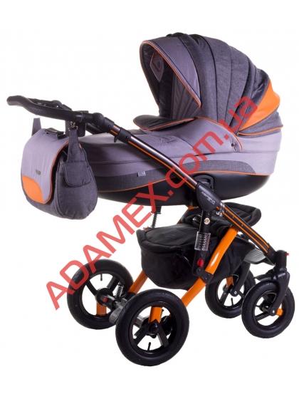 Коляска 2в1 Adamex Aspena Grand Prix Collection Orange Black