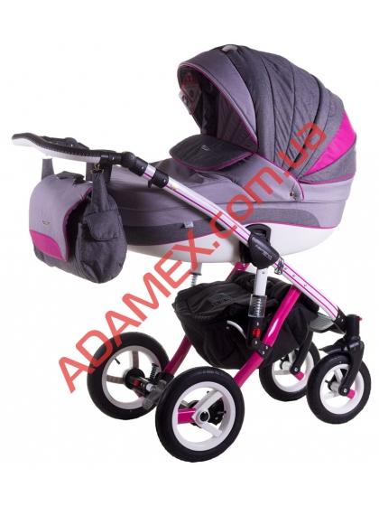 Коляска 2в1 Adamex Aspena Grand Prix Collection Pink White