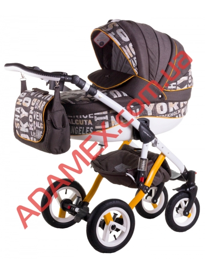 Коляска 2в1 Adamex Aspena World Collection City Brown