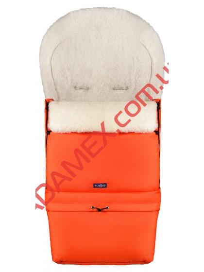 Конверт на овчине Womar №20 с удлинением темно-оранжевый