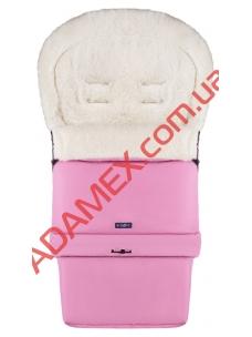 Конверт на овчине Womar №20 с удлинением розовый