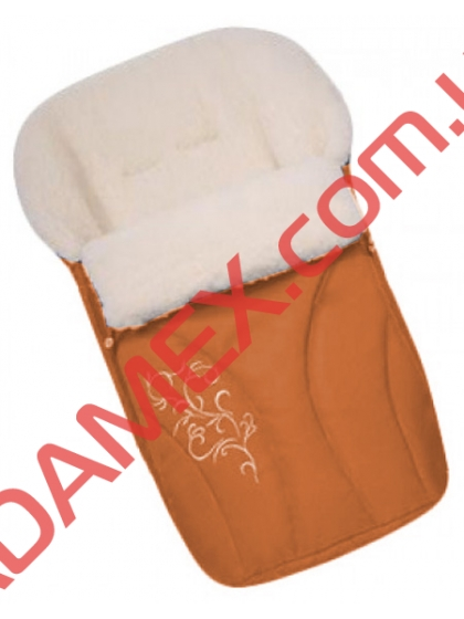 Конверт на овчине Womar №25 с вышивкой Orange