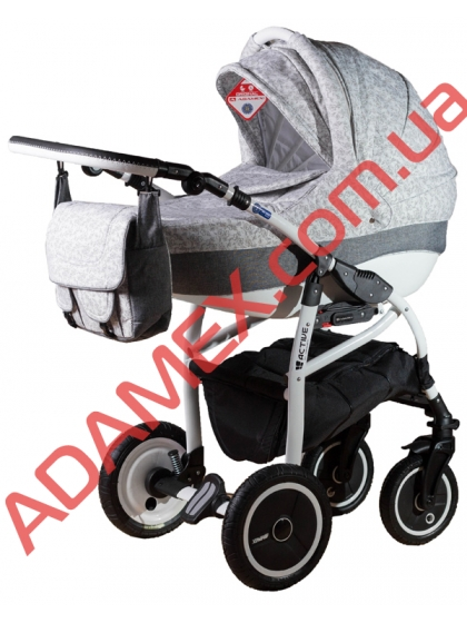 Коляска 2в1 Adamex Active Len 227W