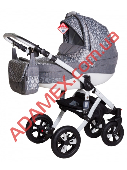 Коляска 2в1 Adamex Avila Len 346W