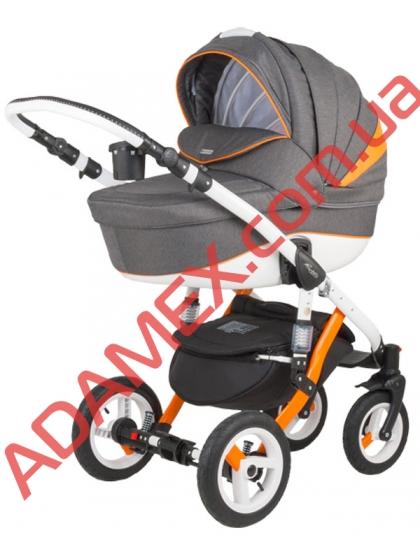Коляска 2в1 Adamex Barletta Rainbow Collection Orange