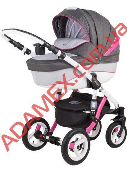 Коляска 2в1 Adamex Barletta Rainbow Collection Pink