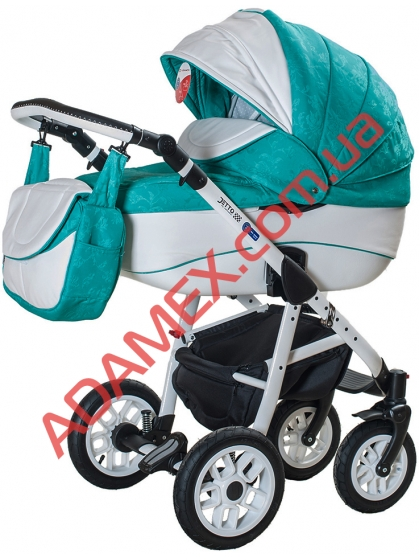 Коляска 2в1 Adamex Jetto Кожа 700S