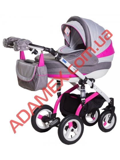 Коляска 2в1 Adamex Lara Rainbow Collection Pink